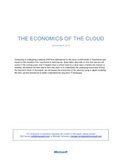 THE ECONOMICS OF THE CLOUD - news.microsoft.com