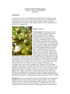 A review of Guava (Psidium guajava) - Anthony Dweck