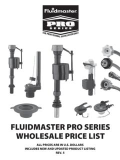 FLUIDMASTER PRO SERIES WHOLESALE PRICE LIST