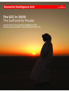 The GCC in 2020 The Gulf and its People - EIU