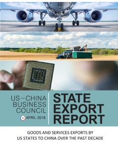 US-CHINA STATE EXPORT REPORT