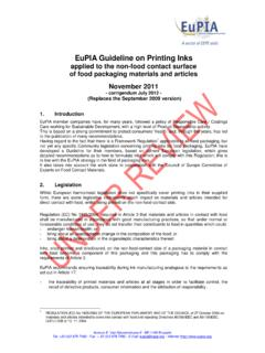 EuPIA Guideline on Printing Inks