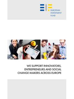 EIF - We support innovators, entrepreneurs and …