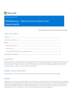 Multiplexing Client Access License (CAL) requirements