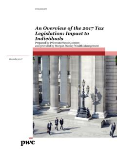 An Overview of the 2017 Tax Legislation: Impact to Individuals