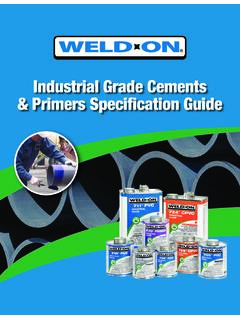 Industrial Grade Cements & Primers Specification Guide