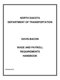 NORTH DAKOTA DEPARTMENT OF TRANSPORTATION …