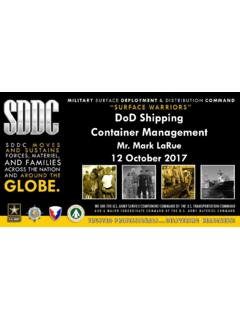 DoD Shipping Container Management
