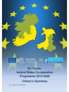 Ireland Wales Cooperation Programme 2014-2020