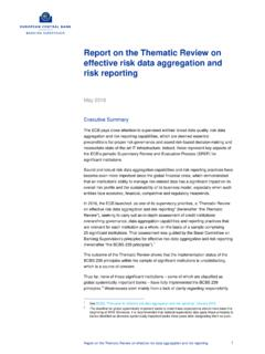 Report on the Thematic Review on effective risk data ...