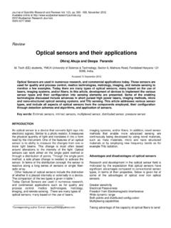 Optical sensors and their applications