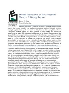 Diverse Perspectives on the Groupthink Theory – A …