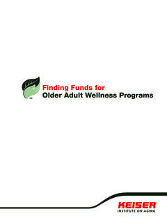 Finding Funds for Older Adult Wellness Programs - Keiser
