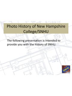 Photo History of New Hampshire College/SNHU