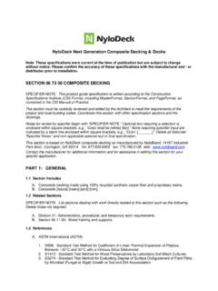 NyloDeck Composite Decking Guide Specification