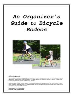 AN ORGANIZER'S GUIDE TO BICYCLE RODEOS