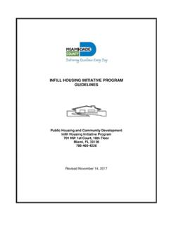 INFILL HOUSING INITIATIVE PROGRAM GUIDELINES