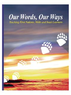 Our Words, Our Ways - Alberta Education