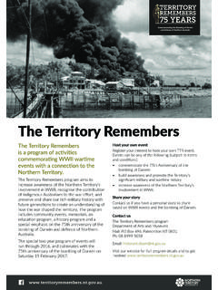The Territory Remembers - Darwin Defenders