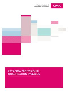 2015 CIMA PROFESSIONAL QUALIFICATION …