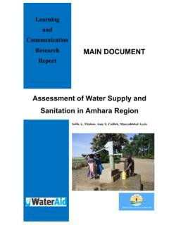 Assessment of Water Supply and Sanitation in Amhara …