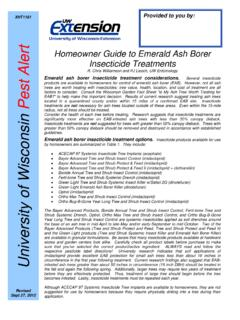 Homeowner Guide to Emerald Ash Borer ert Insecticide ...
