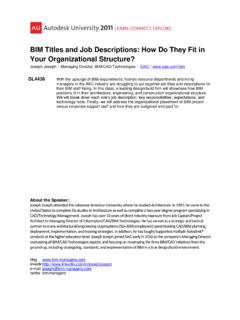 BIM Titles and Job Descriptions: How Do They Fit in Your ...