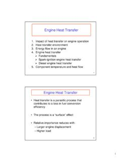 Engine Heat Transfer - MIT