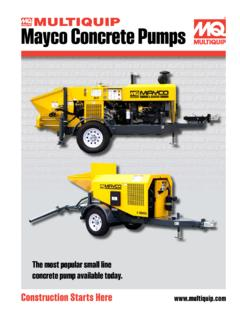 Mayco Concrete Pumps - cessco.us