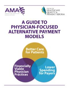Physician-Focused Alternative Payment Models