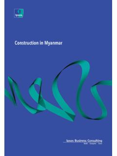 Construction in Myanmar - Ipsos Business Consulting