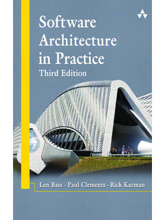 Software Architecture in Practice - jz81.github.io