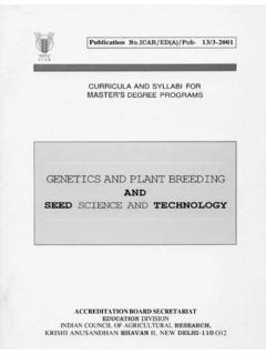 GENETICS AND PLANT BREEDING - Welcome to ICAR