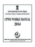 GOVERNMENT OF INDIA - CPWD