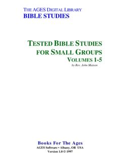 T IBRARY BIBLE STUDIES - The NTSLibrary