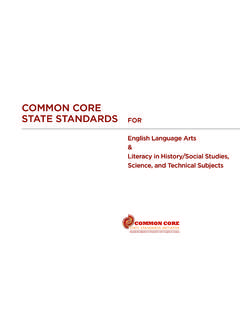 Common Core State StandardS for english Language arts ...