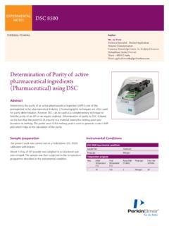 Determination of Purity of active pharmaceutical ...