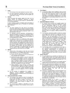 Purchase Order Terms & Conditions - Siemens