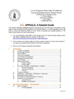 O.C. APPEALS: A Detailed Guide - California Courts