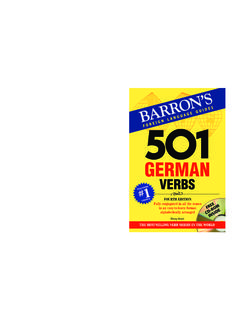 501 German Verbs - German Translation and Tutoring