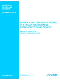 WOMEN'S AND CHILDREN'S RIGHTS IN A - UNICEF