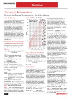 Determining Energy Requirements - Air & Gas Heating
