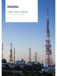 Indian Tower Industry The Future Is Data - Deloitte …