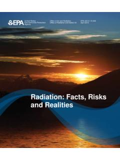 Radiation: Facts, Risks and Realities