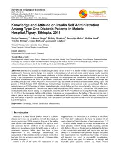 Knowledge and Attitude on Insulin Self Administration ...