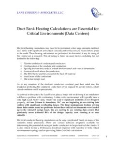 Duct Bank Heating Calculations are Essential for …