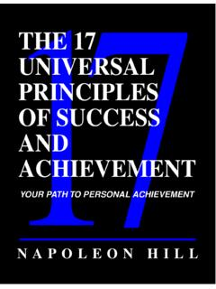 THE 17 UNIVERSAL PRINCIPLES OF SUCCESS AND …