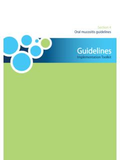 Section 4 Oral mucositis guidelines - Welcome to …