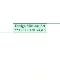 Foreign Missions Act 22 U.S.C. 4301-4316 Option A Smaller ...