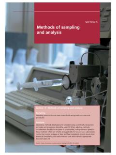SECTION 5 Methods of sampling and analysis - fao.org